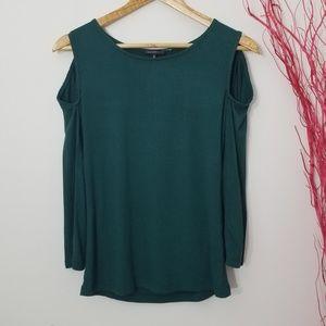 Dynamite   Long Sleeve Open Shoulder Green Medium